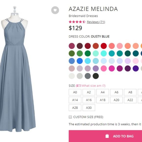 7867ef1154 Azazie Dresses   Skirts - Azazie Melinda Dress in Dusty Blue